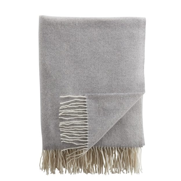 Amoura Luxury Cashmere Throw Light Grey