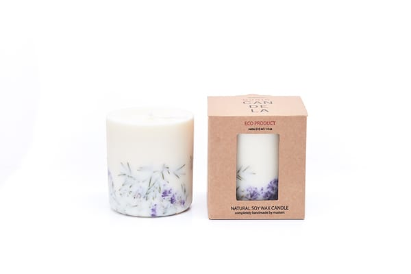 Juniper and Limonium scented candle and presentation box to buy