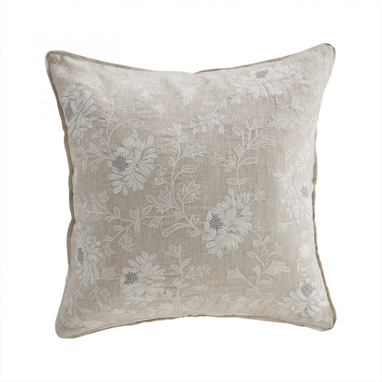 Kamille Floral Embriodered Cushion 3