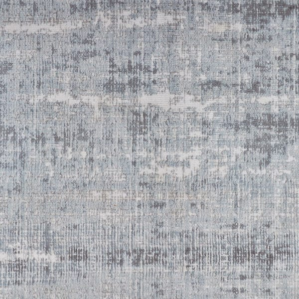 distressed contemporary rug in grey close up