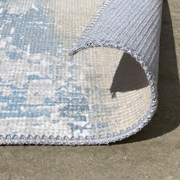Distressed textured designer rug turn up Talia