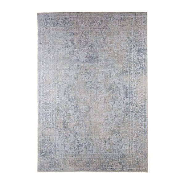 alara distressed ornamental designer rug in stone image
