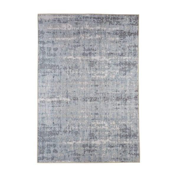 ziri distressed contemporary designer rug in grey image