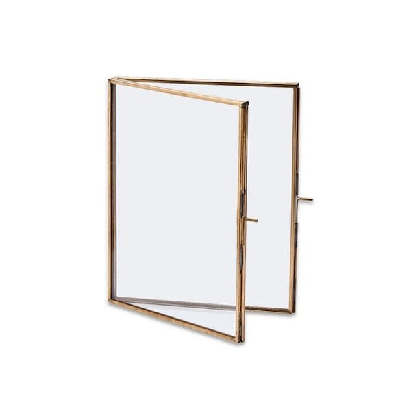 danta folded picture frame – antique brass small image