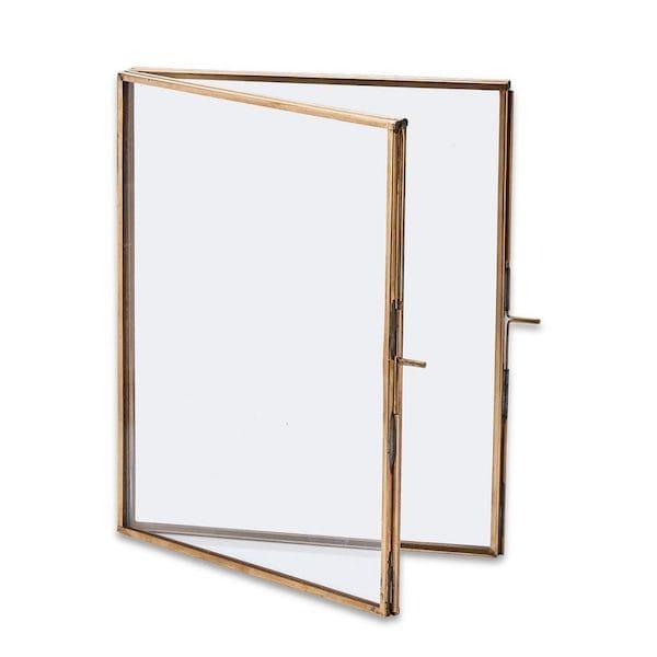 danta folded picture frame antique brass large image