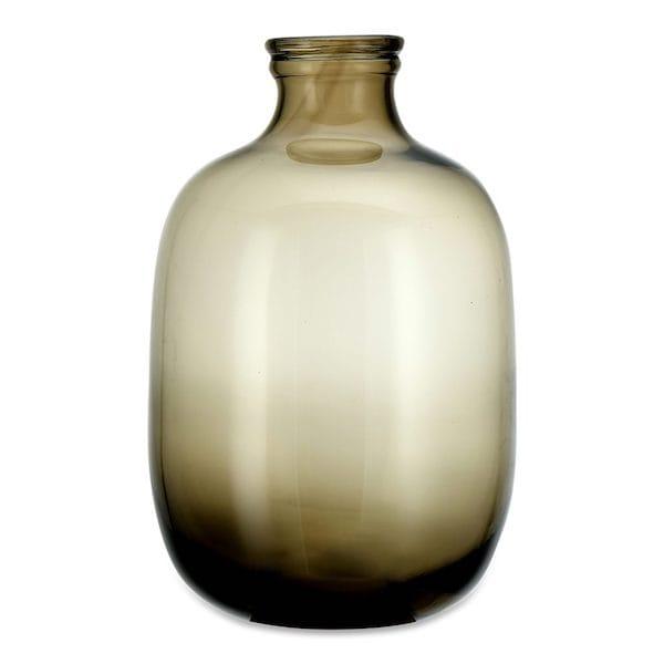 lua glass vase vintage brown image