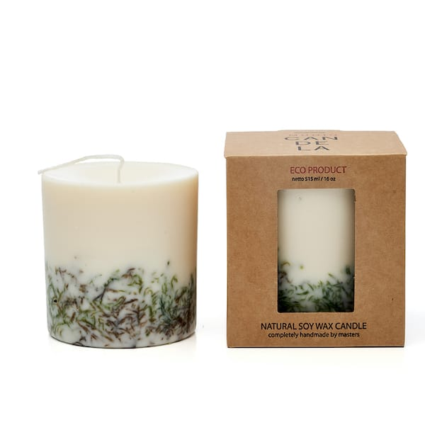 Moss scented candle with presenatation box