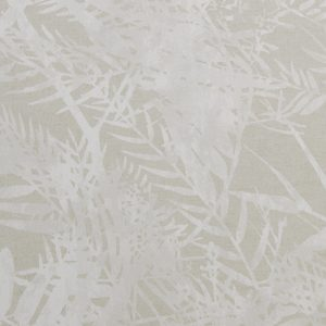 natural fern printed fabric swatch