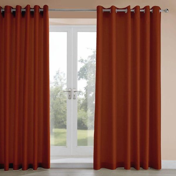 amara amber velvet lined curtains image