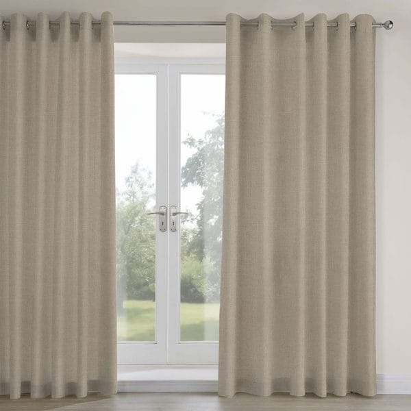 casina limestone woven lined curtains image