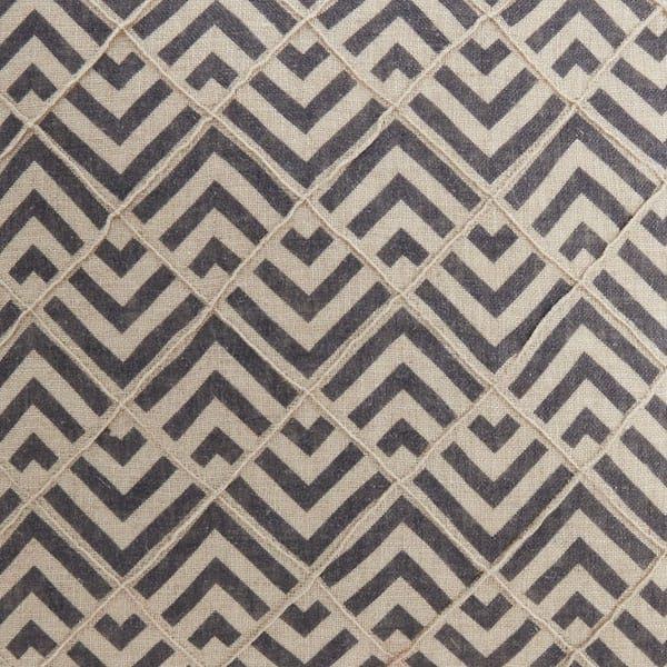 Zimi zig zag navy patterned fabric
