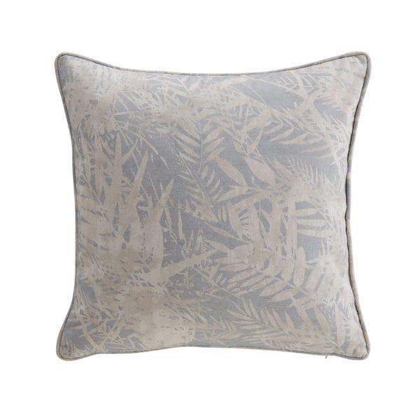 fern leaf duck egg cushion cover image