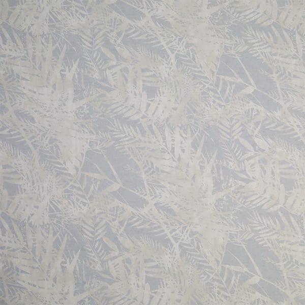 fern leaf duck egg printed fabric image