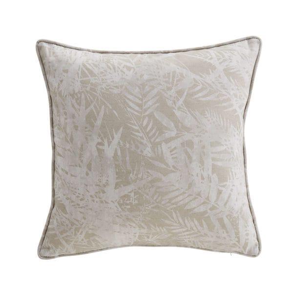 fern leaf natural printed cushion cover image