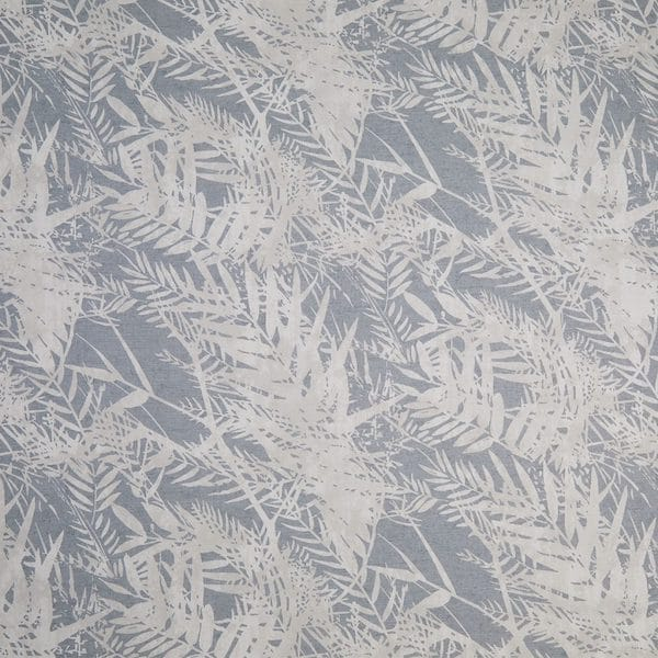 fern leaf soft navy printed fabric image