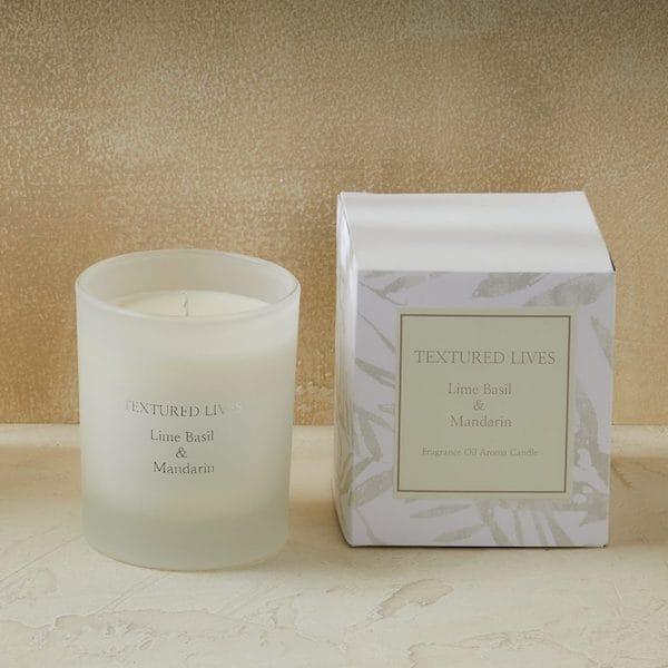 lime basil and mandarin fragrance candle image