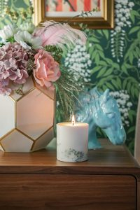 decorative candle and vase
