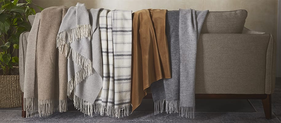luxury throws made from cashmere and merino wool