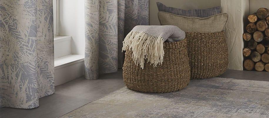 natural woven storage baskets